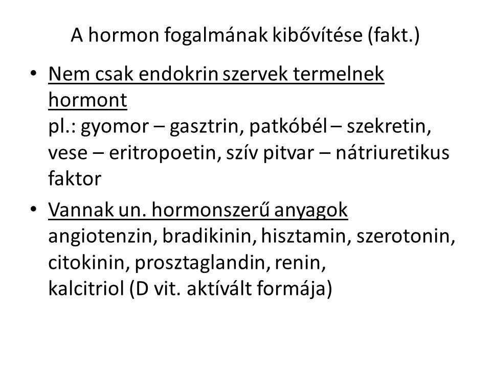 A hormon fogalmának kibővítése (fakt.)