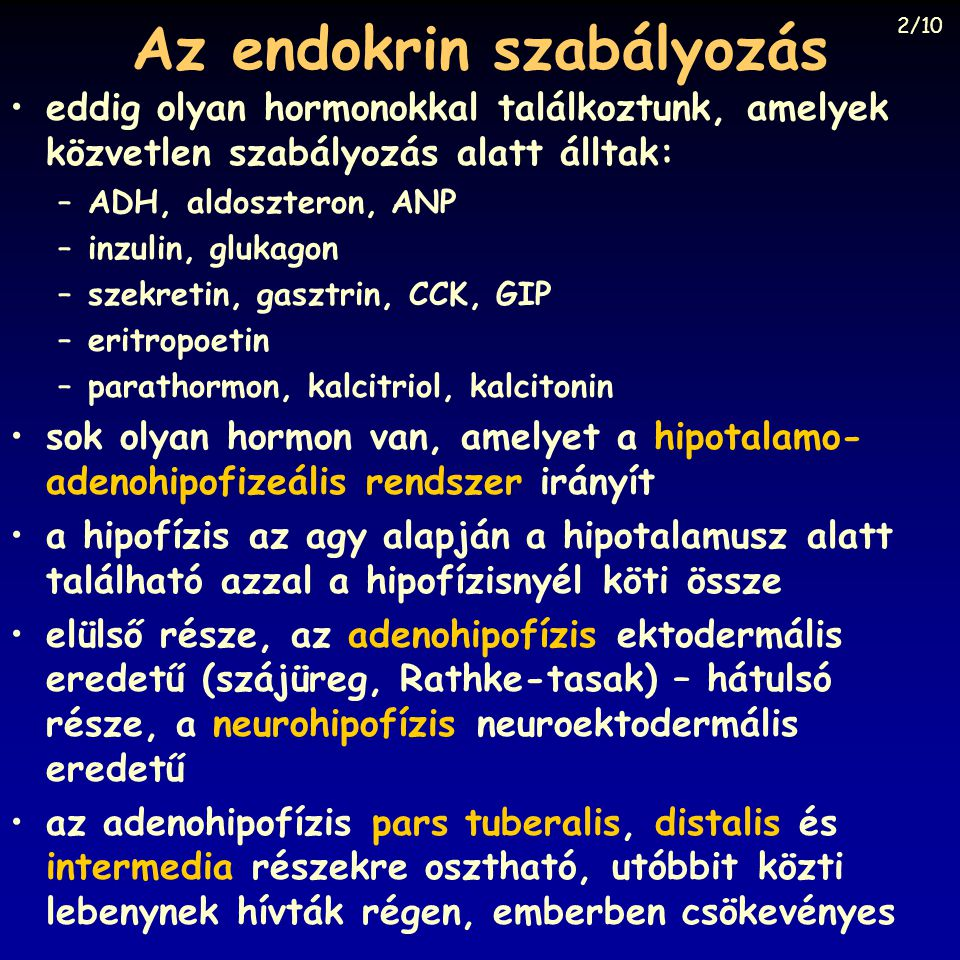 Az endokrin szabályozás