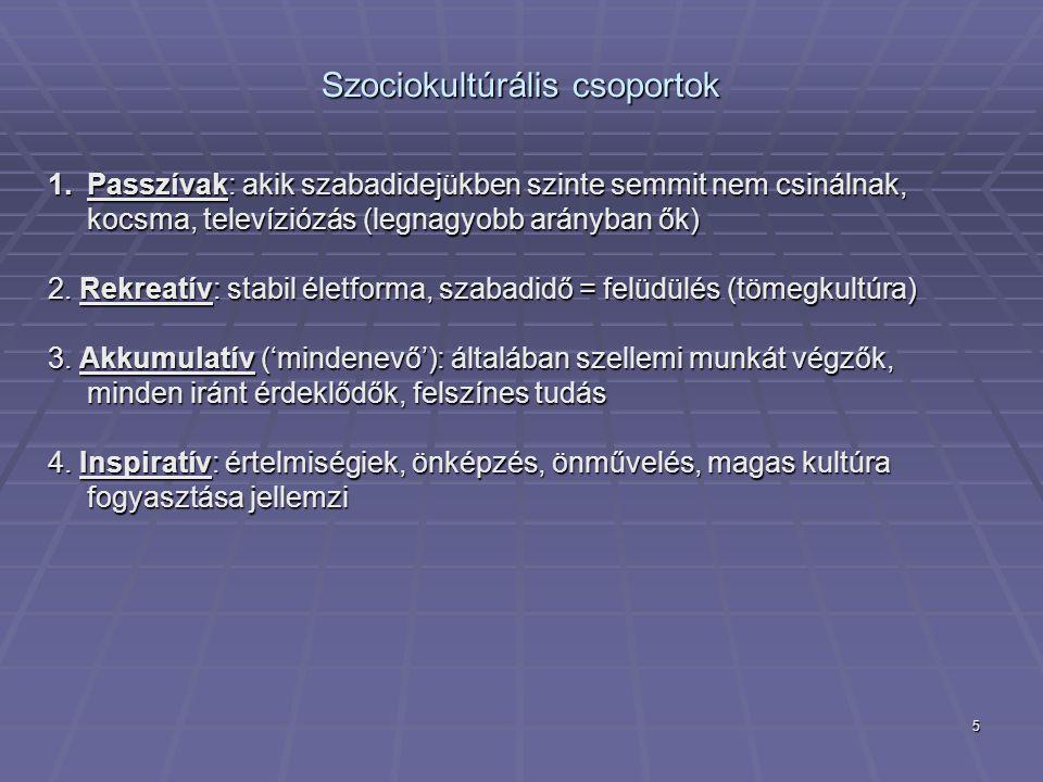 Szociokultúrális csoportok