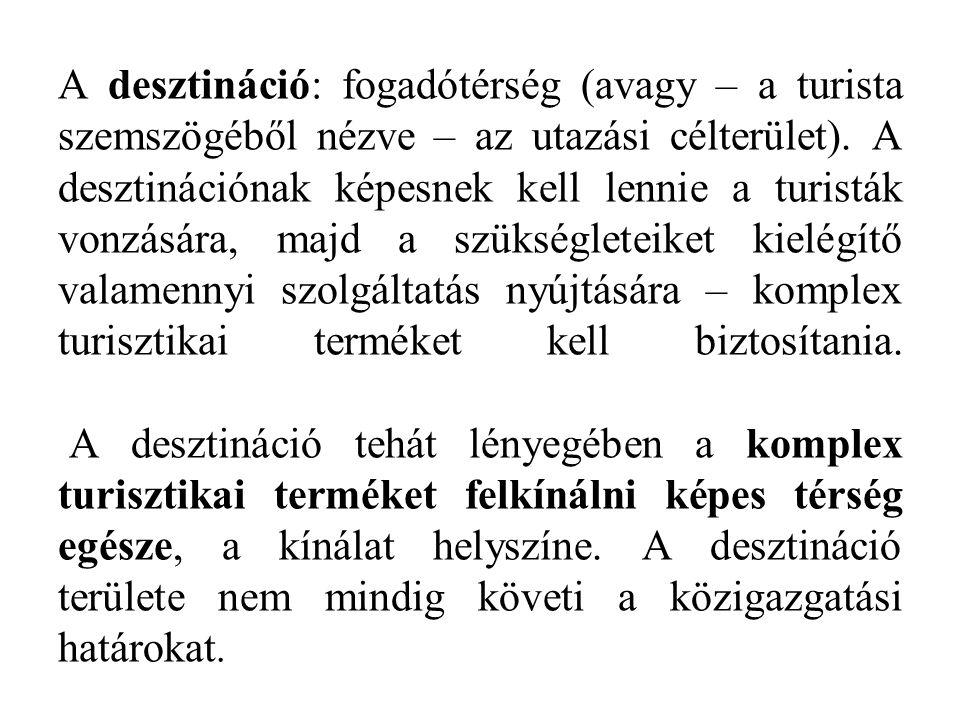 A desztináció: fogadótérség (avagy – a turista szemszögéből nézve – az utazási célterület).