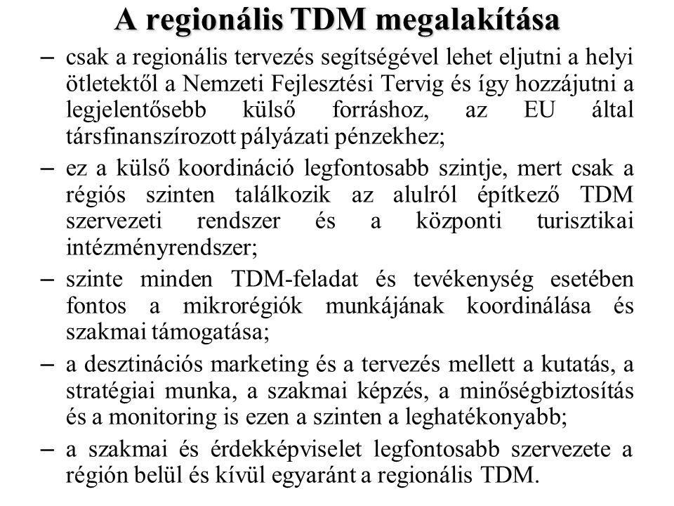 A regionális TDM megalakítása