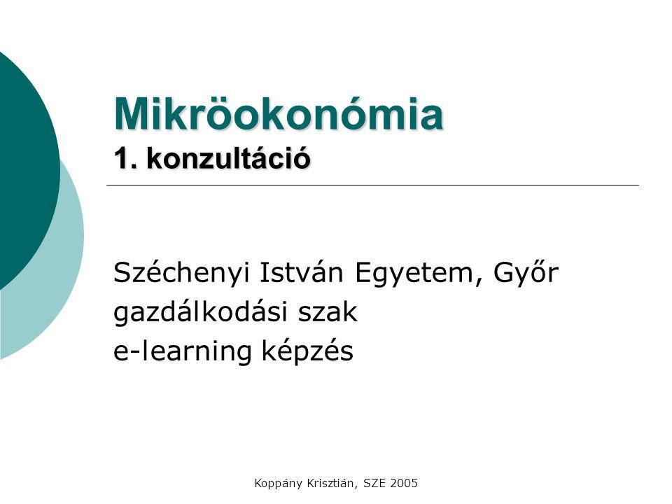 Mikröokonómia 1. konzultáció