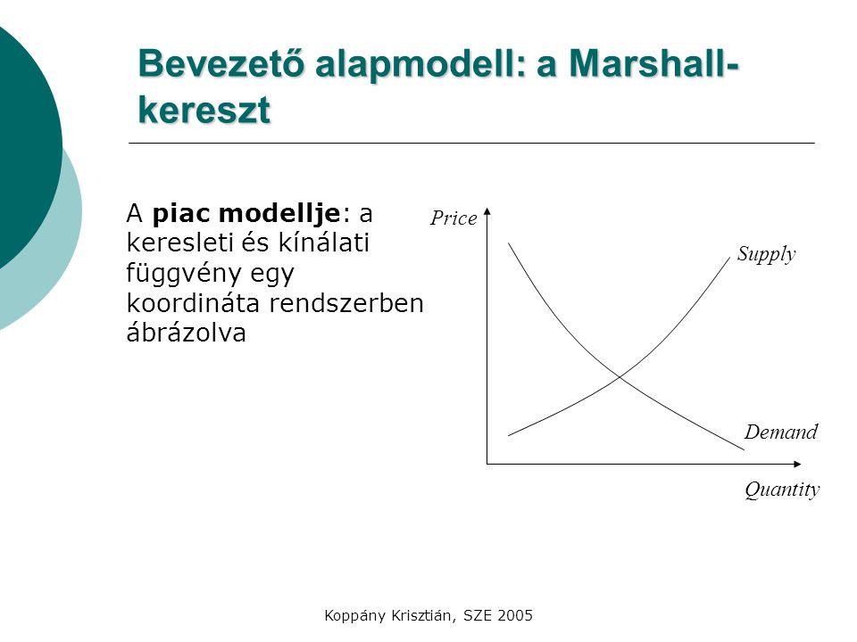 Bevezető alapmodell: a Marshall-kereszt