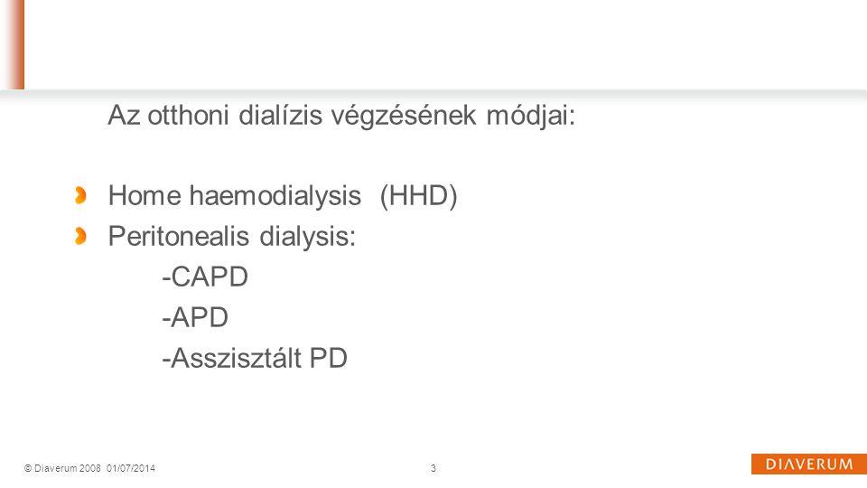 Az otthoni dialízis végzésének módjai: Home haemodialysis (HHD)