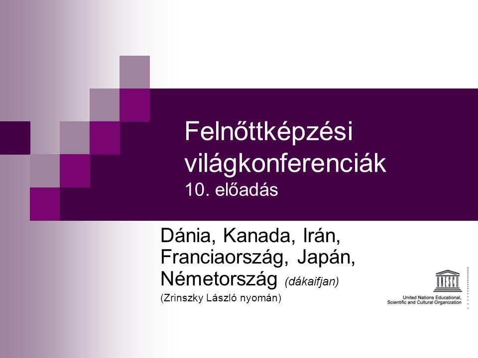 Felnőttképzési világkonferenciák 10. előadás