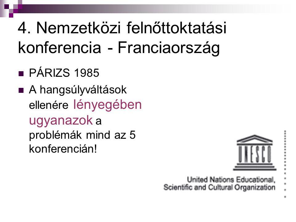 4. Nemzetközi felnőttoktatási konferencia - Franciaország