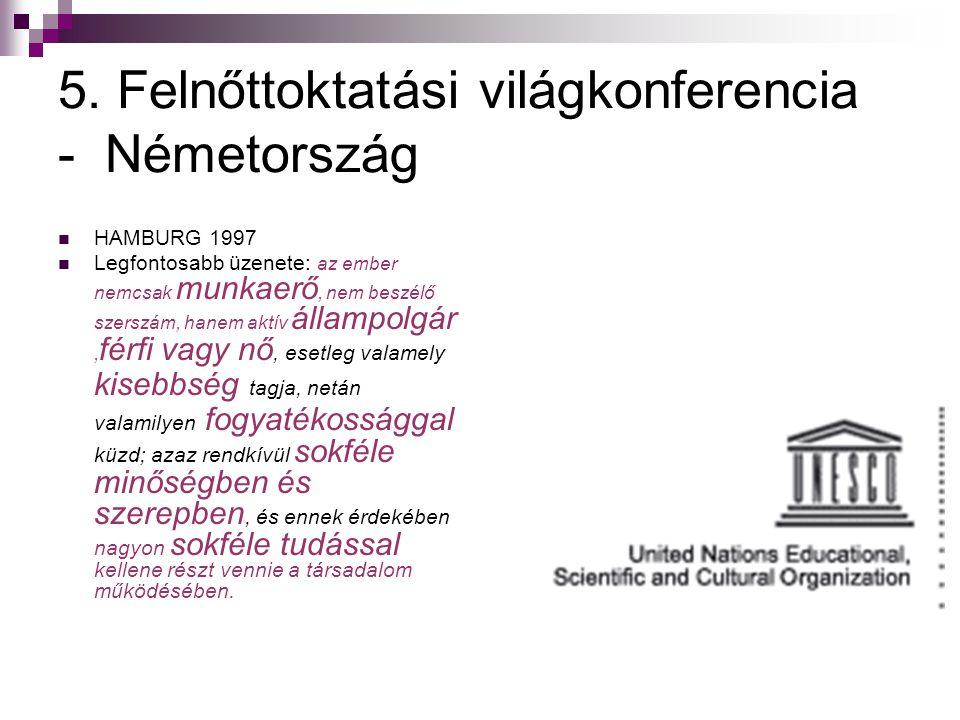 5. Felnőttoktatási világkonferencia - Németország