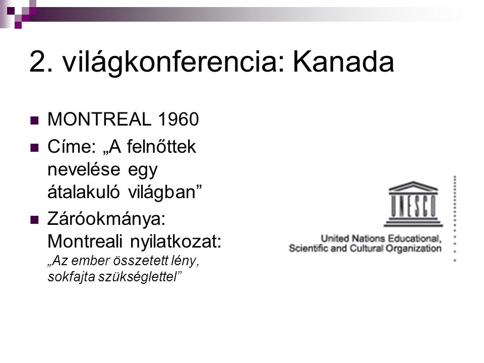 2. világkonferencia: Kanada