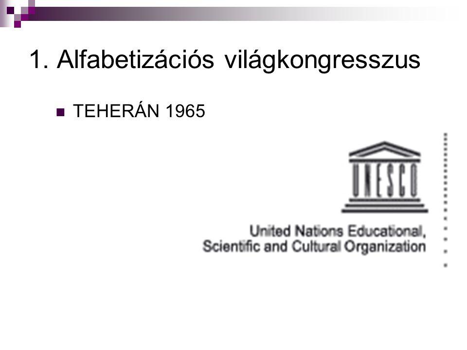 1. Alfabetizációs világkongresszus