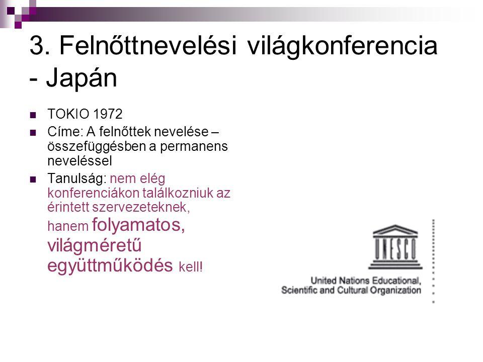 3. Felnőttnevelési világkonferencia - Japán