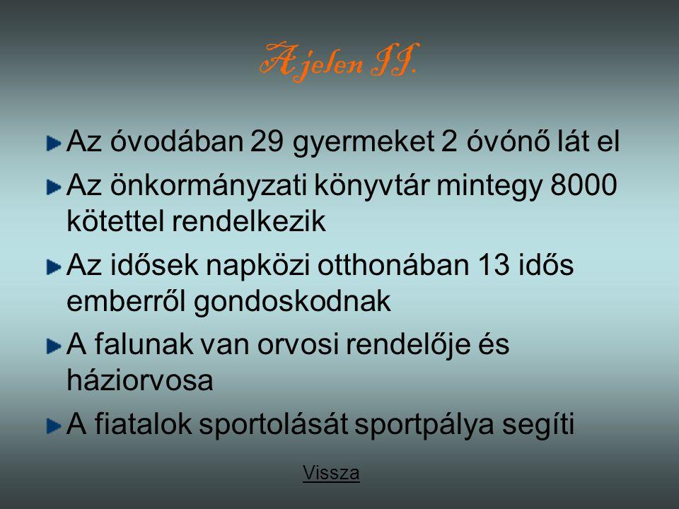 A jelen II. Az óvodában 29 gyermeket 2 óvónő lát el