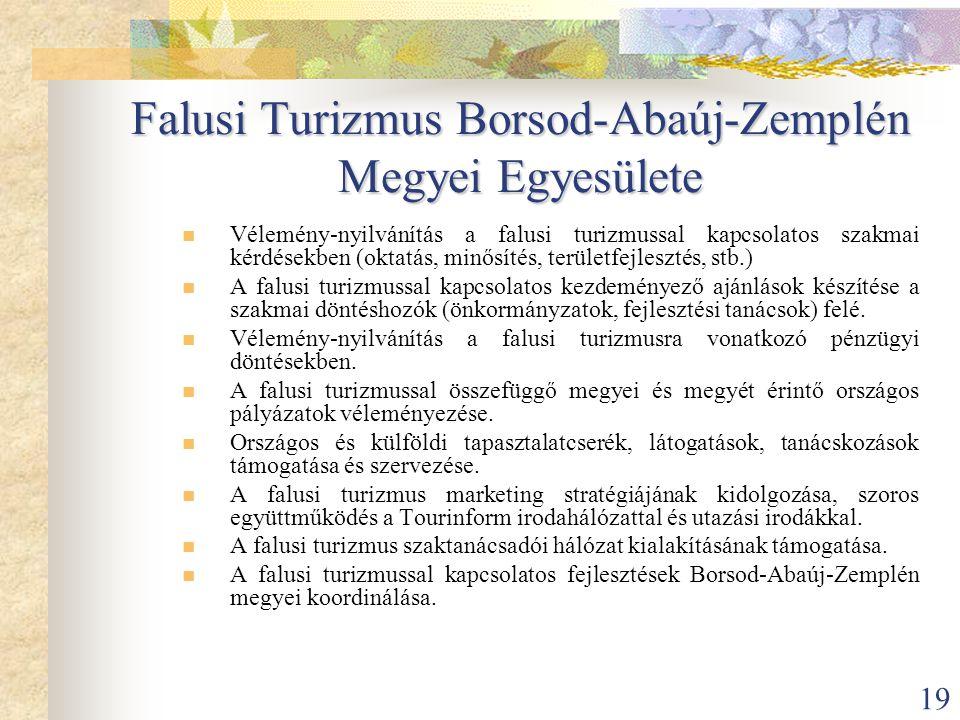 Falusi Turizmus Borsod-Abaúj-Zemplén Megyei Egyesülete