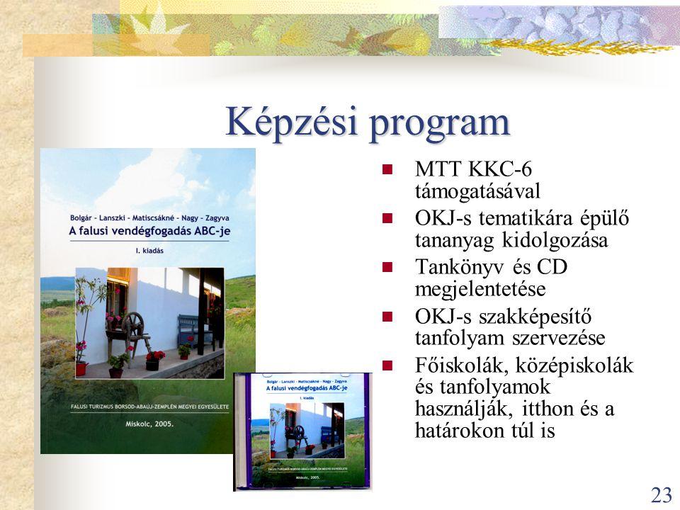 Képzési program MTT KKC-6 támogatásával