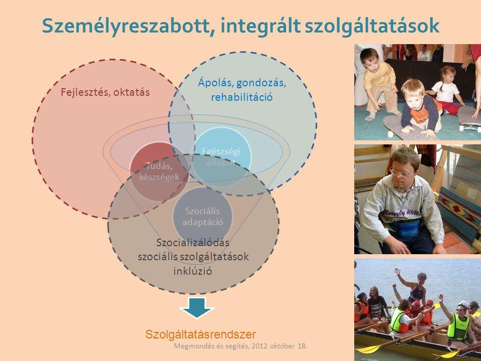 Személyreszabott, integrált szolgáltatások