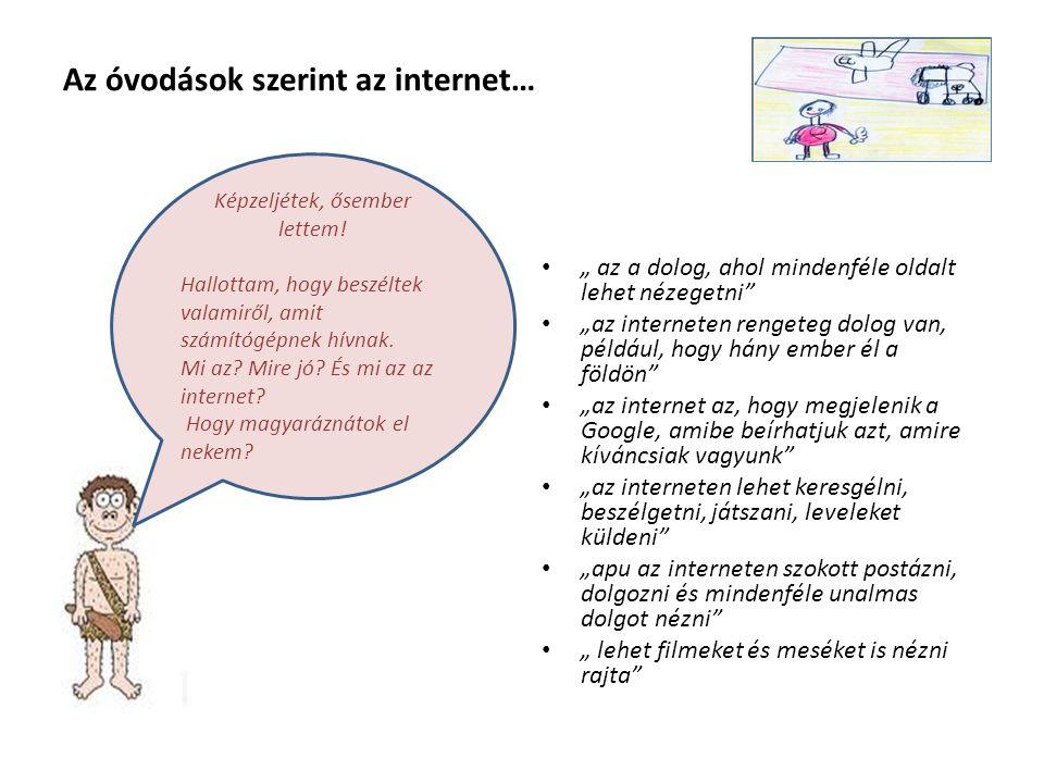 Az óvodások szerint az internet…