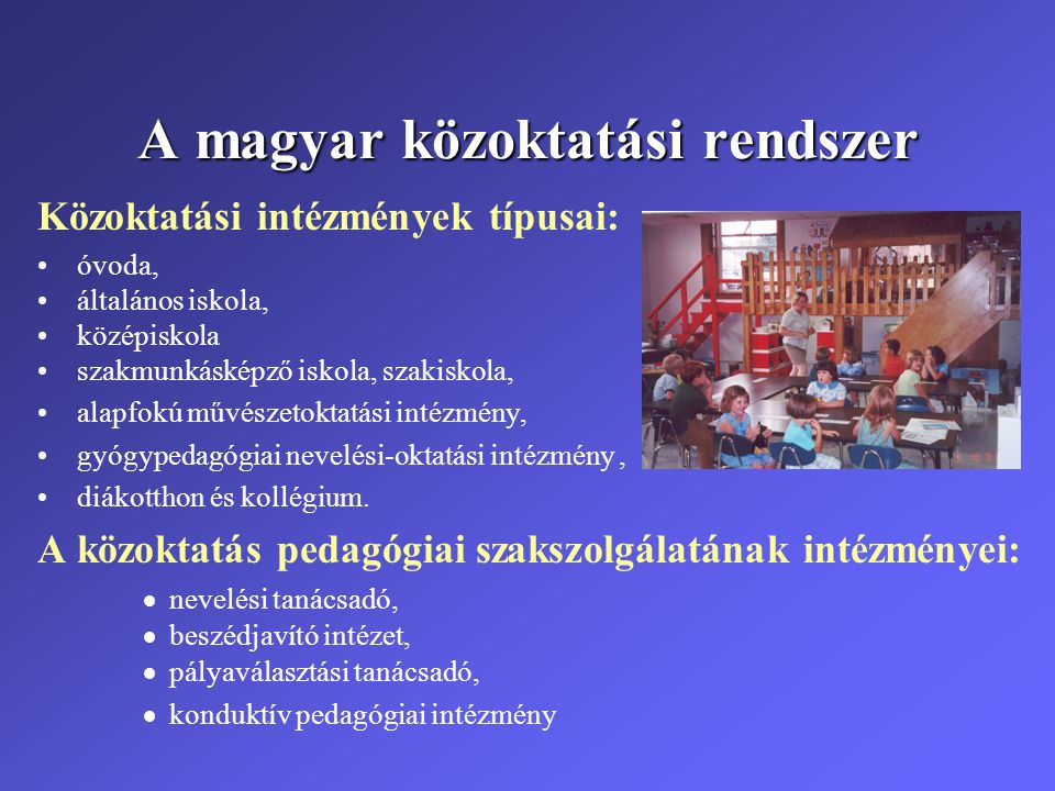 A magyar közoktatási rendszer