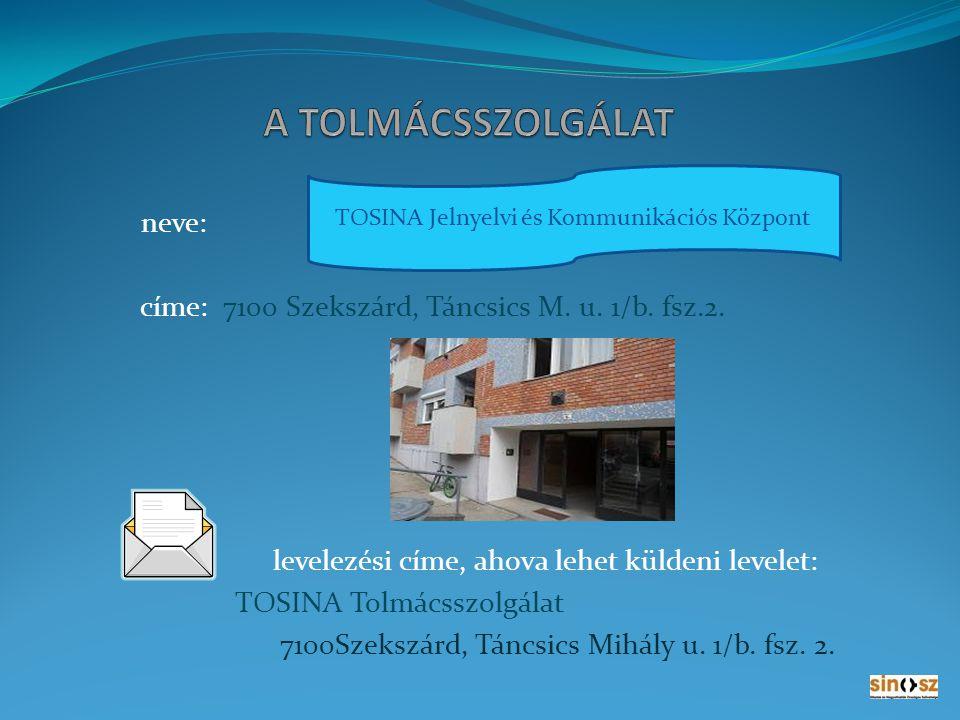 TOSINA Jelnyelvi és Kommunikációs Központ