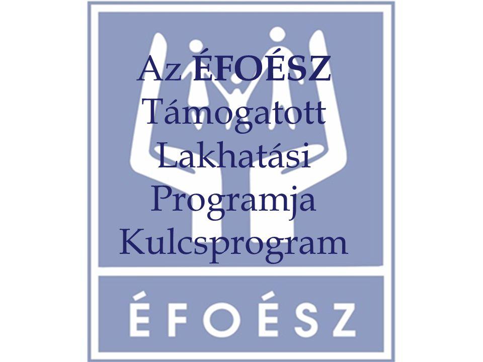 Az ÉFOÉSZ Támogatott Lakhatási Programja