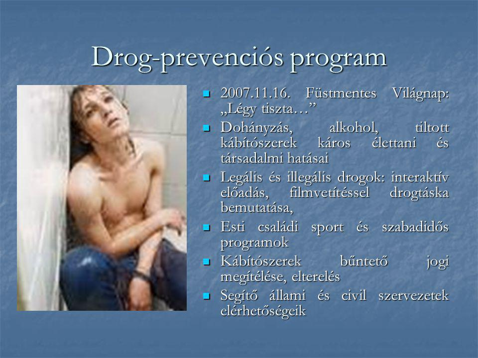 Drog-prevenciós program