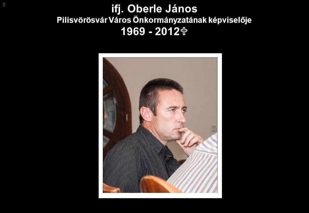 3 ifj. Oberle János Pilisvörösvár Város Önkormányzatának képviselője 1969 - 2012U