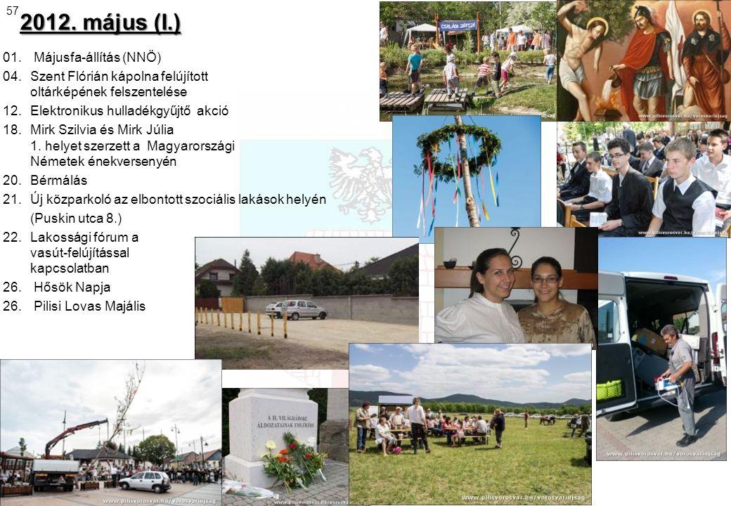 2012. május (I.) 01. Májusfa-állítás (NNÖ)