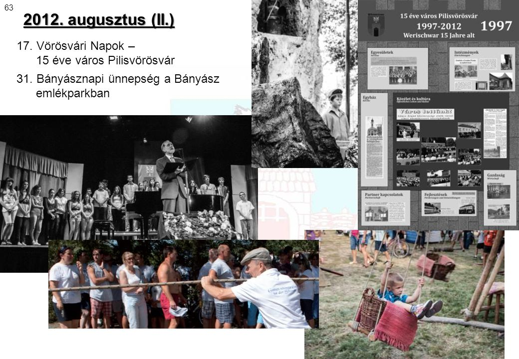 2012. augusztus (II.) 17. Vörösvári Napok – 15 éve város Pilisvörösvár