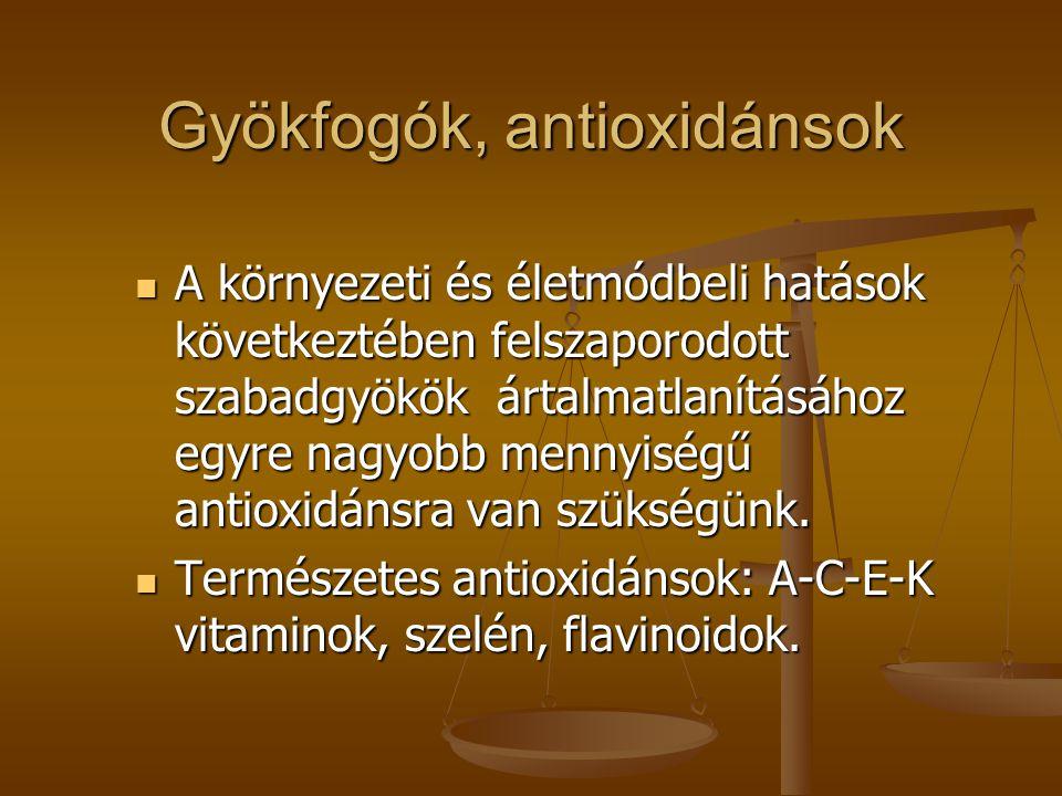 Gyökfogók, antioxidánsok