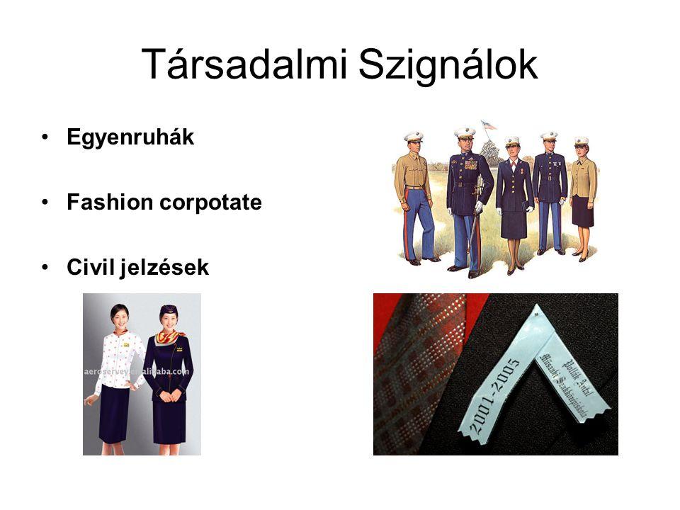 Társadalmi Szignálok Egyenruhák Fashion corpotate Civil jelzések