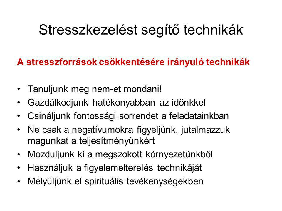 Stresszkezelést segítő technikák