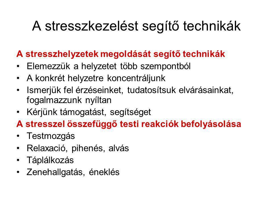 A stresszkezelést segítő technikák