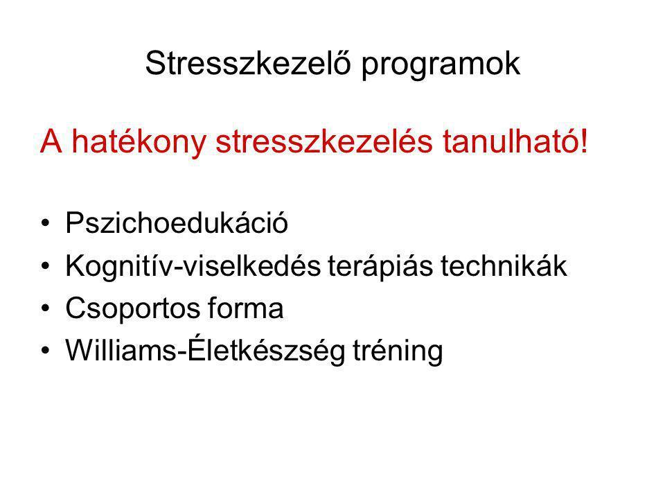 Stresszkezelő programok