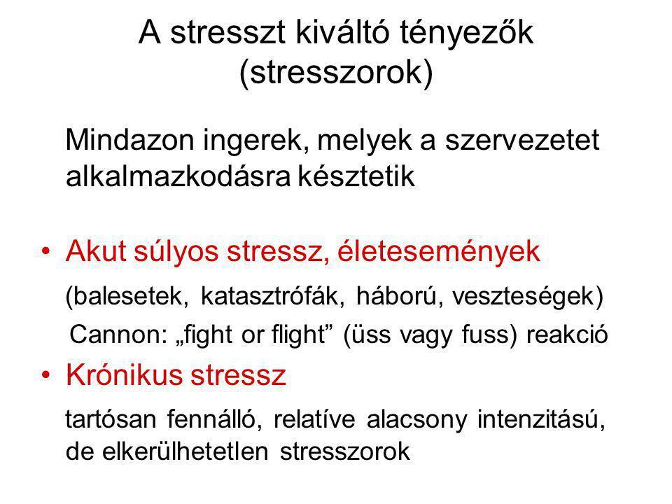 A stresszt kiváltó tényezők (stresszorok)