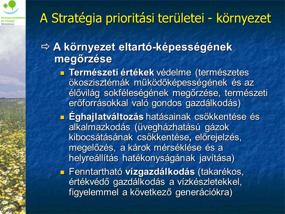 A Stratégia prioritási területei - környezet