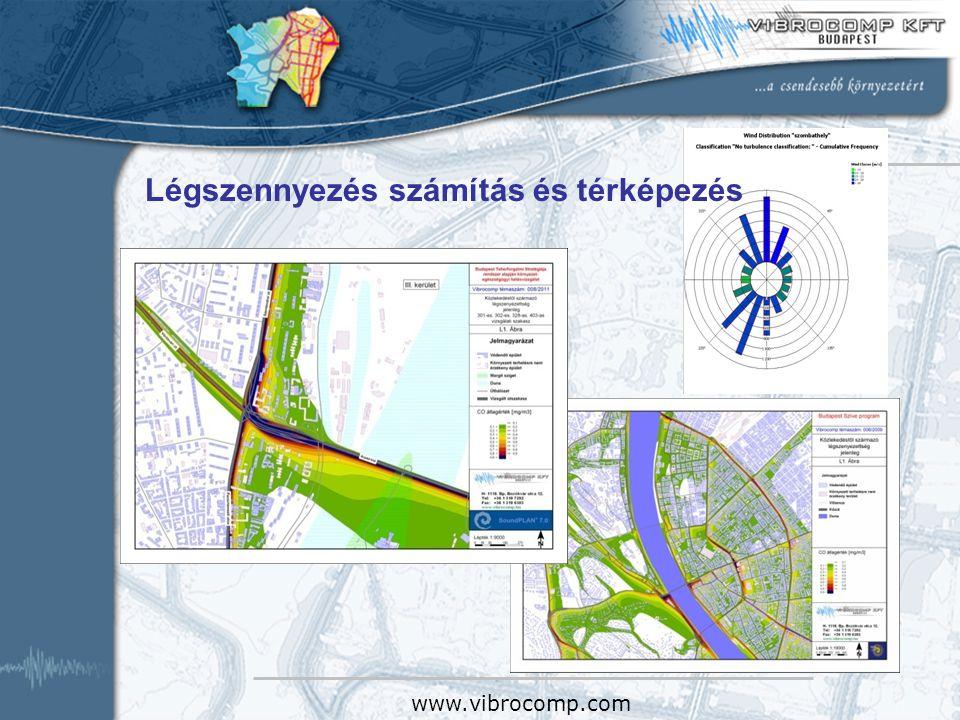 Légszennyezés számítás és térképezés