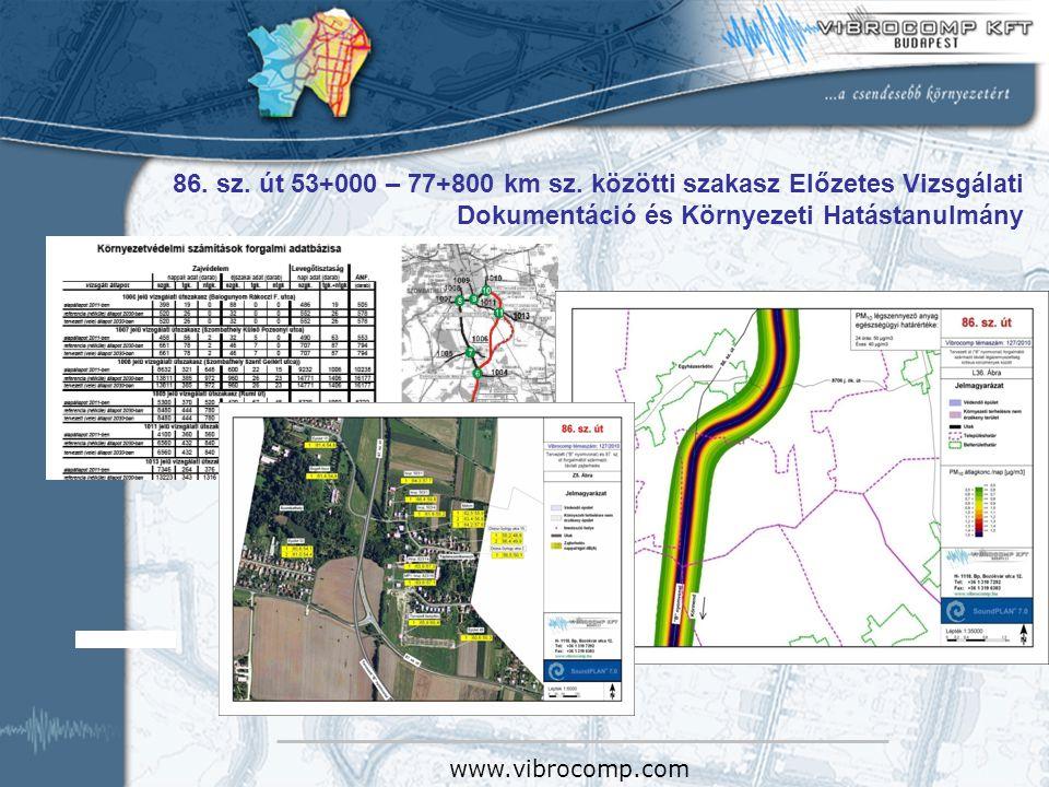 86. sz. út 53+000 – 77+800 km sz. közötti szakasz Előzetes Vizsgálati Dokumentáció és Környezeti Hatástanulmány