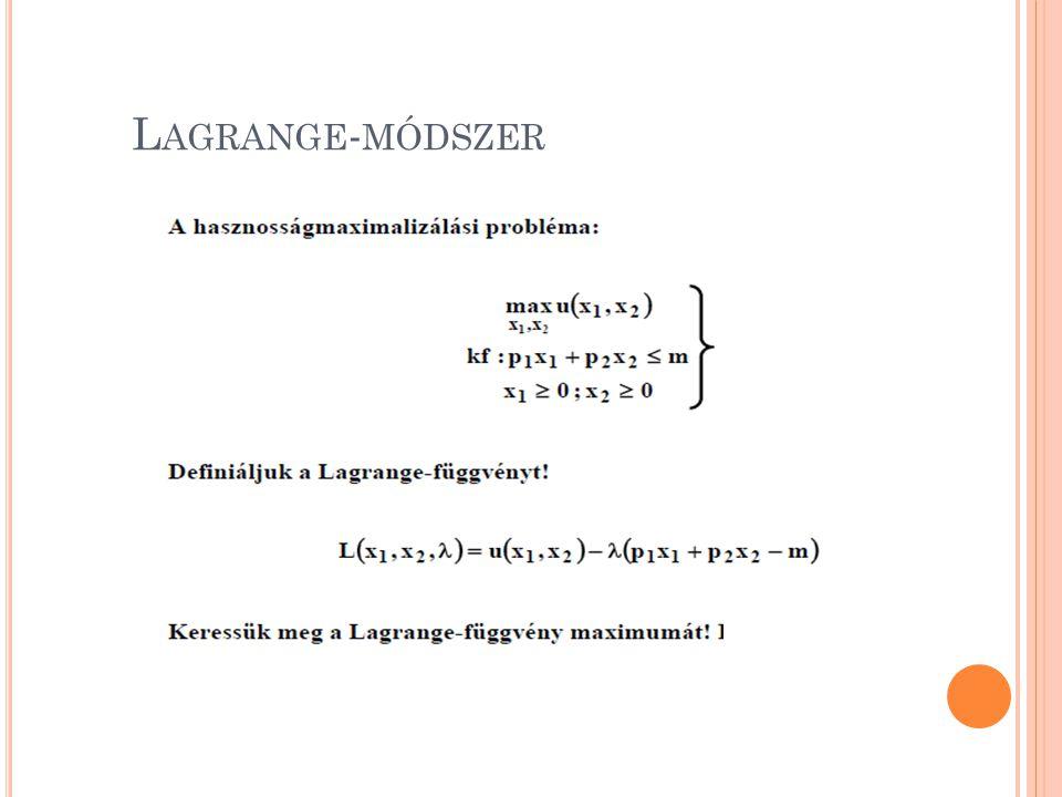 Lagrange-módszer