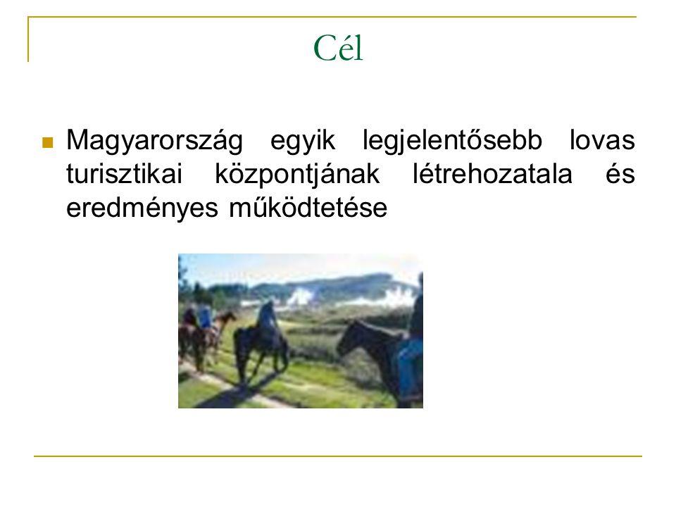 Cél Magyarország egyik legjelentősebb lovas turisztikai központjának létrehozatala és eredményes működtetése.