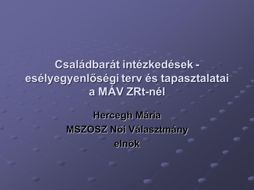 Hercegh Mária MSZOSZ Női Választmány elnök