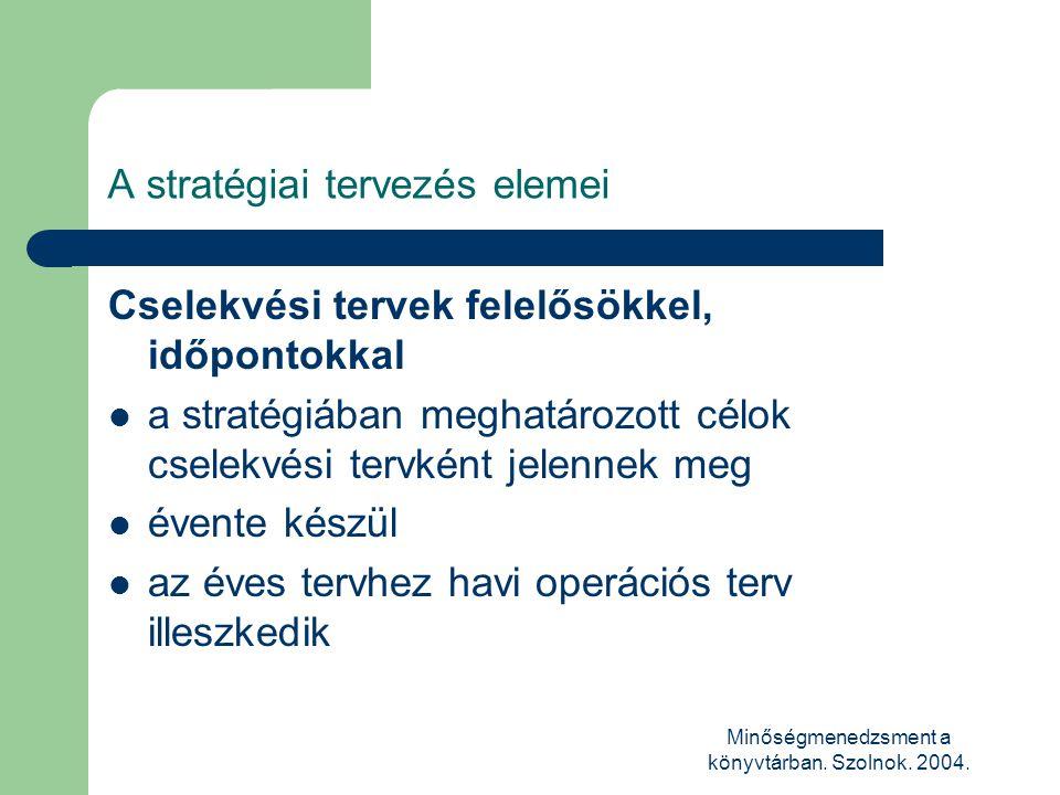 A stratégiai tervezés elemei