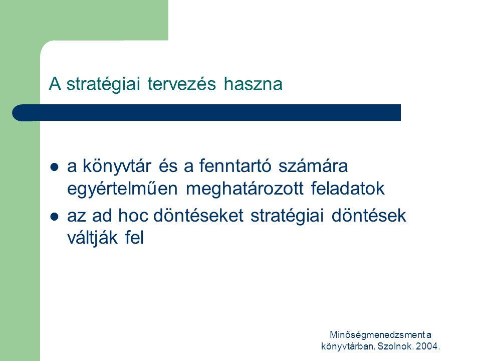 A stratégiai tervezés haszna