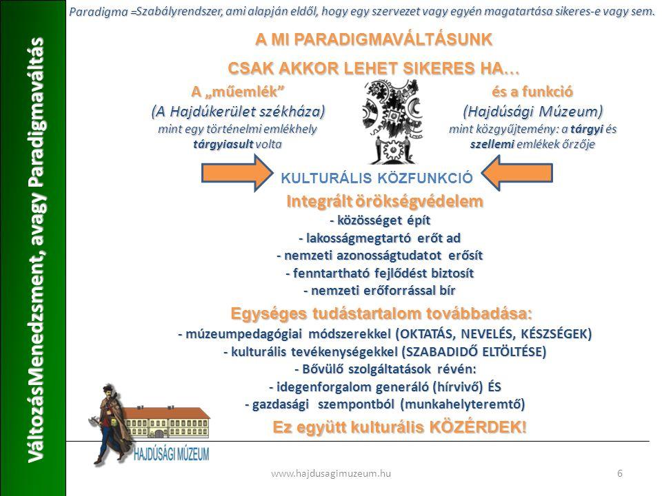 VáltozásMenedzsment, avagy Paradigmaváltás