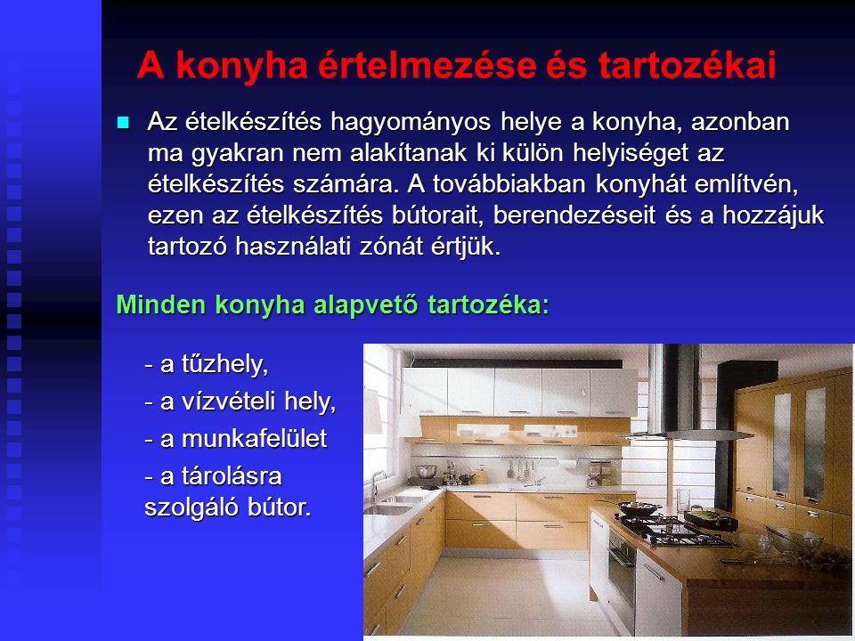 A konyha értelmezése és tartozékai