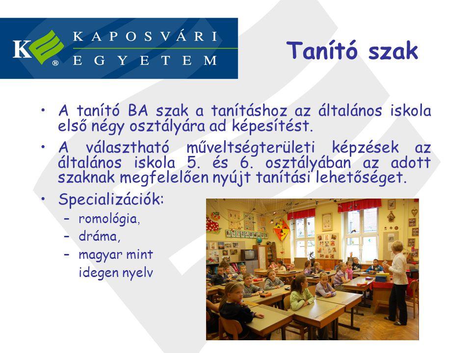 Tanító szak A tanító BA szak a tanításhoz az általános iskola első négy osztályára ad képesítést.