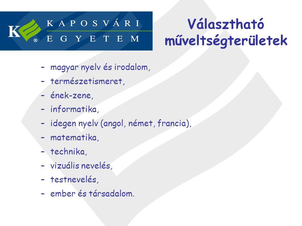 Választható műveltségterületek