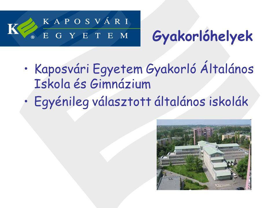 Gyakorlóhelyek Kaposvári Egyetem Gyakorló Általános Iskola és Gimnázium.