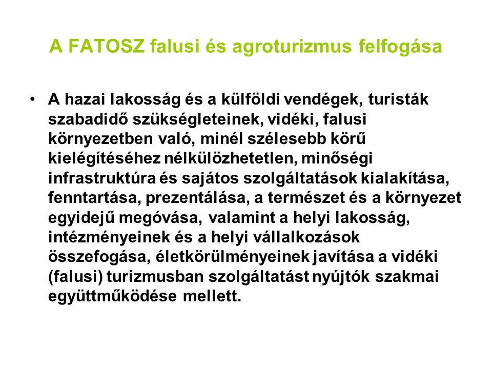 A FATOSZ falusi és agroturizmus felfogása