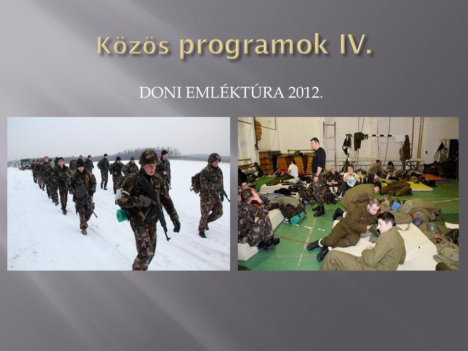 Közös programok IV. Doni emléktúra 2012.
