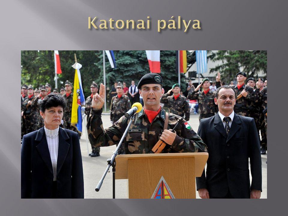 Katonai pálya