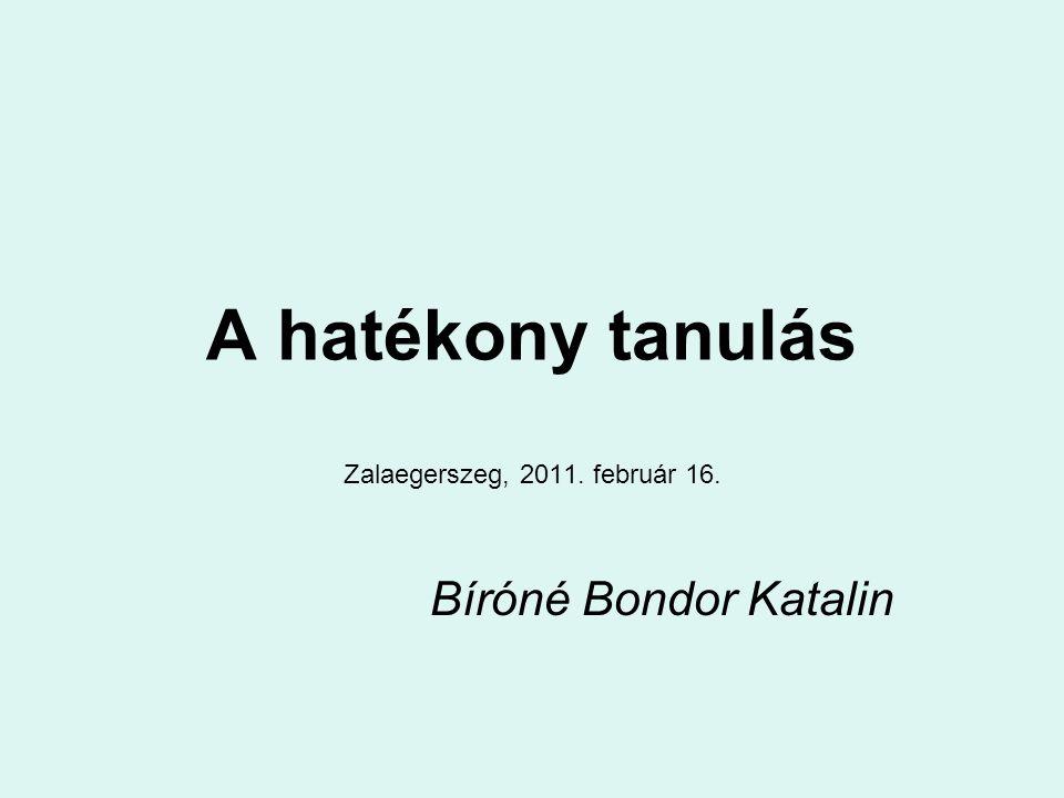 Zalaegerszeg, 2011. február 16. Bíróné Bondor Katalin