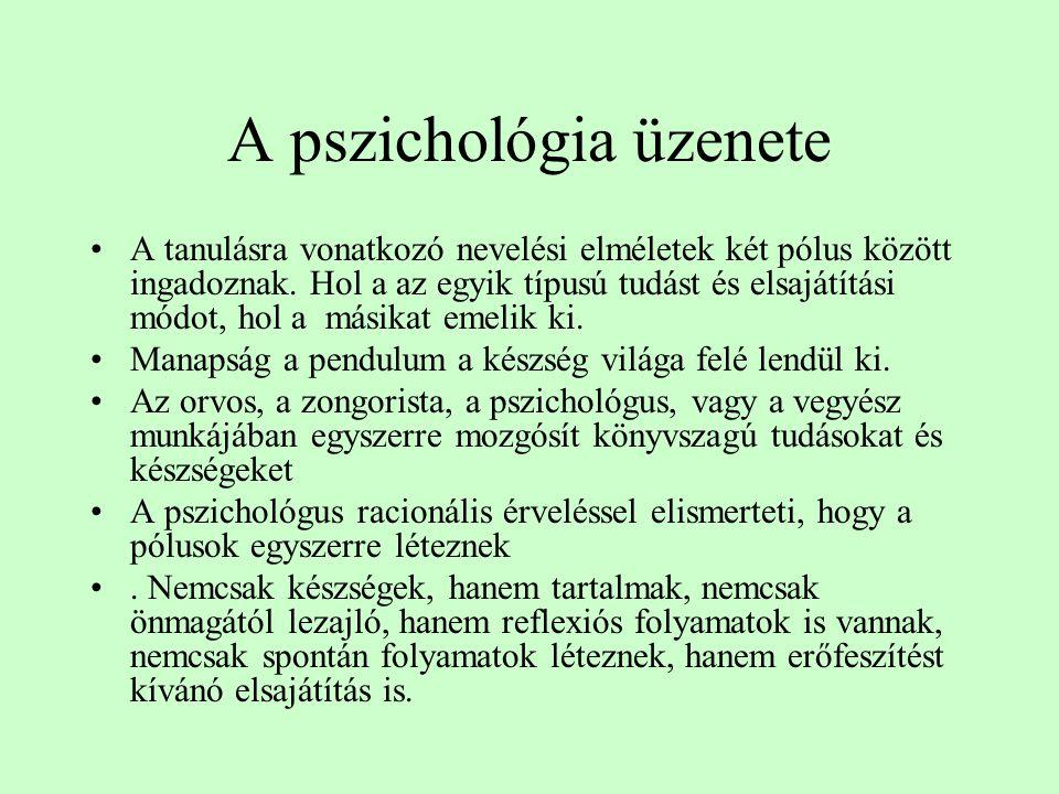 A pszichológia üzenete